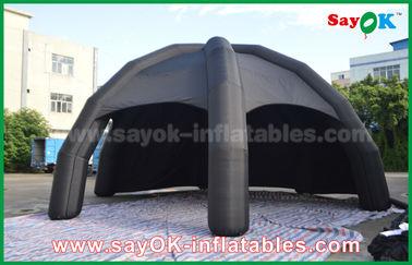 Κίνα Μαύρη σκηνή αέρα PVC διογκώσιμη/σκηνή αραχνών θόλων διαφήμισης με τον ανεμιστήρα προμηθευτής