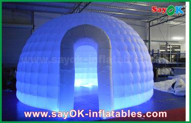 Κίνα 210D διογκώσιμη σκηνή αέρα παγοκαλυβών υφασμάτων της Οξφόρδης γύρω από τη σκηνή θόλων με το φως των οδηγήσεων προμηθευτής