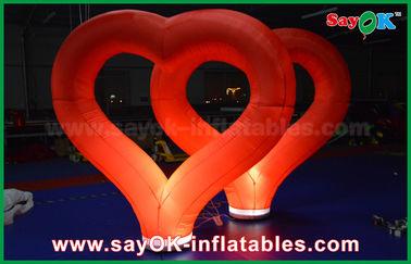 Κίνα Κόκκινη νάυλον διογκώσιμη καρδιά γαμήλιων υπαίθρια διογκώσιμη διακοσμήσεων με το φως των οδηγήσεων προμηθευτής