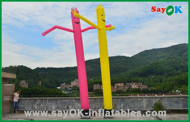 Κίνα Διακοπών διακοσμήσεων κόκκινο/κίτρινο διογκώσιμο σωλήνων άτομο αέρα ατόμων εμπορικό χορεύοντας προμηθευτής