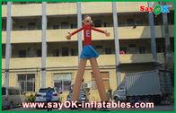 Κίνα Κόκκινοι χορευτές αέρα κινούμενων σχεδίων διαφημιστικοί που τυπώνουν ελκυστικά 5m υψηλά για την υπεραγορά εργοστάσιο