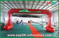 Κίνα Το κόκκινο PVC τύπωσε τη διπλή ράβοντας διογκώσιμη αψίδα εισόδων αψίδων γραμμών τερματισμού έναρξης εργοστάσιο