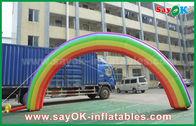 Κίνα 7mL Χ γιγαντιαίο διογκώσιμο ύφασμα της Οξφόρδης αψίδων εισόδων 4mH/αψίδων ουράνιων τόξων για το γεγονός εργοστάσιο