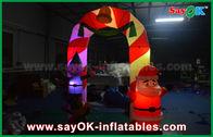 Κίνα Διογκώσιμη αψίδα διακοσμήσεων Χριστουγέννων αψίδων υφασμάτων Mylon με το φως των οδηγήσεων εργοστάσιο