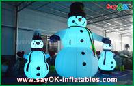 Κίνα Της Οξφόρδης υφασμάτων διογκώσιμος διακοπών χιονάνθρωπος Χριστουγέννων διακοσμήσεων γιγαντιαίος για το κόμμα εργοστάσιο