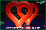 καλής ποιότητας Διογκώσιμη σκηνή αέρα & Κόκκινη νάυλον διογκώσιμη καρδιά γαμήλιων υπαίθρια διογκώσιμη διακοσμήσεων με το φως των οδηγήσεων για την πώληση