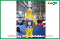 Κίνα Κίτρινοι/μπλε φορητοί διογκώσιμοι χαρακτήρες κινουμένων σχεδίων συνήθειας για την εμπορική διαφήμιση εργοστάσιο