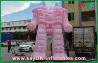 Κίνα Ρόδινο ύφασμα της Οξφόρδης/διογκώσιμο ρομπότ PVC για τα προϊόντα διαφήμισης εξωτερικού εργοστάσιο