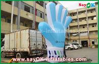 Κίνα Γιγαντιαία διογκώσιμα προϊόντα συνήθειας της Οξφόρδης, πρότυπο χεριών 2m ψηλό διογκώσιμο μπλε για τα γεγονότα εργοστάσιο