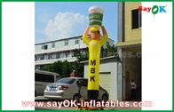 Κίνα Κίτρινη διογκώσιμη κουζίνα χορευτών αέρα για τη διαφήμιση, διογκώσιμος χορευτής ουρανού εργοστάσιο