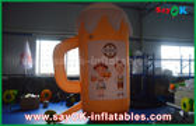 Κίνα Πορτοκαλιά διογκώσιμα προϊόντα συνήθειας/διογκώσιμες φλυτζάνι και μπύρα για την προώθηση/το κόμμα εργοστάσιο