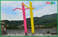 καλής ποιότητας Διογκώσιμη σκηνή αέρα & Διακοπών διακοσμήσεων κόκκινο/κίτρινο διογκώσιμο σωλήνων άτομο αέρα ατόμων εμπορικό χορεύοντας για την πώληση