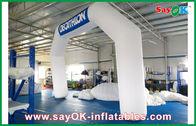 Κίνα Μπλε/άσπρη διογκώσιμη αψίδα της Ιταλίας 6mL Χ 4mH με το ύφασμα της Οξφόρδης και το επίστρωμα PVC επιχείρηση
