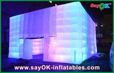 Το υπαίθριο PVC έντυσε τη γιγαντιαία διογκώσιμη σκηνή κύβων με το φως αλλαγής χρώματος/τον ανεμιστήρα αέρα