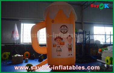 Πορτοκαλιά διογκώσιμα προϊόντα συνήθειας/διογκώσιμες φλυτζάνι και μπύρα για την προώθηση/το κόμμα
