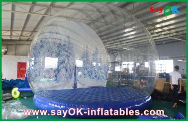 διογκώσιμες διακοσμήσεις διακοπών 3m Dia/διαφανής διογκώσιμη σφαίρα χιονιού Chrismas για τη διαφήμιση