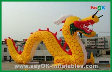 Διογκώσιμοι χαρακτήρες κινουμένων σχεδίων δράκων συνήθειας κίτρινοι διογκώσιμοι κινεζικοί για τις δραστηριότητες