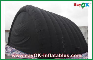 Μαύρη αδιάβροχη διογκώσιμη σκηνή αέρα με το ύφασμα της Οξφόρδης και επίστρωμα PVC για Ourdoor