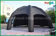 Μαύρη σκηνή αέρα PVC διογκώσιμη/σκηνή αραχνών θόλων διαφήμισης με τον ανεμιστήρα